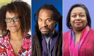 Bernardine Evaristo, Benjamin Zephaniah and Malorie Blackman