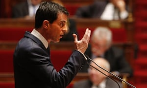 French Prime Minister Manuel Valls gestures as he addresses French lawmakers