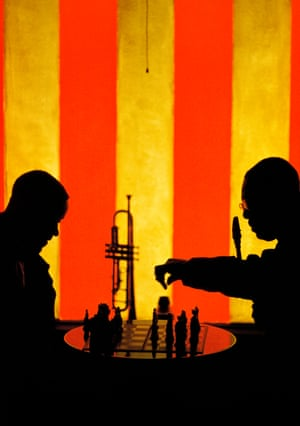 San Francisco 1960 Here, jazz saxophonist Earl Bostic and his trumpet player play chess during a break at the fabled Blackhawk nightclub in San Francisco's Tenderloin district.
