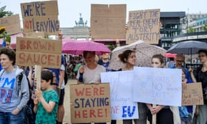 British ex-pats protest against the Brexit vote in Berlin.