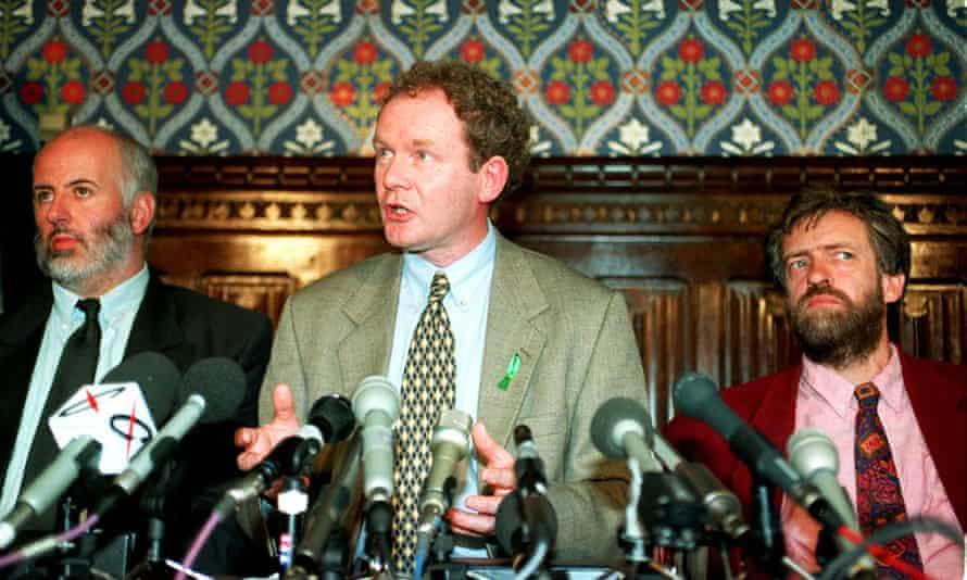 Martin McGuinness, as Sinn Féin's peace negotiator, in the Commons, 1995.