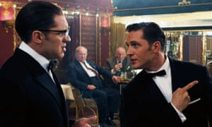 Tom Hardy as both Ronnie and Reggie Kray in Legend