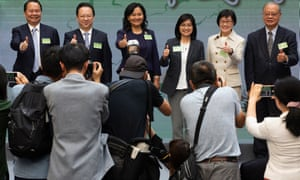 Politicians and industry officials attend an event to mark the launch the Hong Kong's nationwide campaign to promote Traditional Chinese Medicine earlier this month – an industry that uses ingredients from endangered species