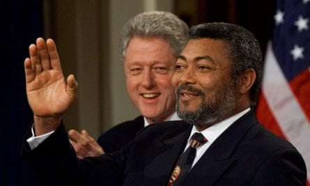Jerry Rawlings and Bill Clinton