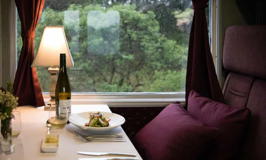 The three-hour ride on the Q Train, from Queenscliff to Drysdale and back, gives passengers the opportunity to enjoy head chef Greg Egan's food.