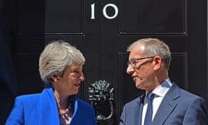 Theresa May with her husband Philip, whom Anthony Seldon describes as a consort of 'consummate skill'.