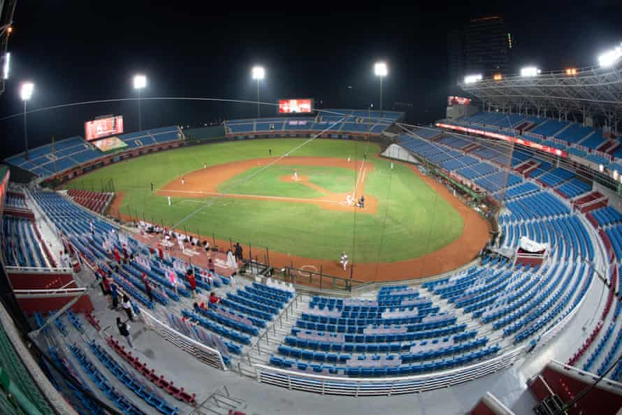 A Chinese Professional Baseball League held behind closed doors last month.