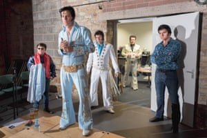 Performers waiting for their turn at an Elvis competition, Barnsley 2016
