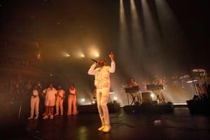 Kano and band at the Royal Albert Hall.