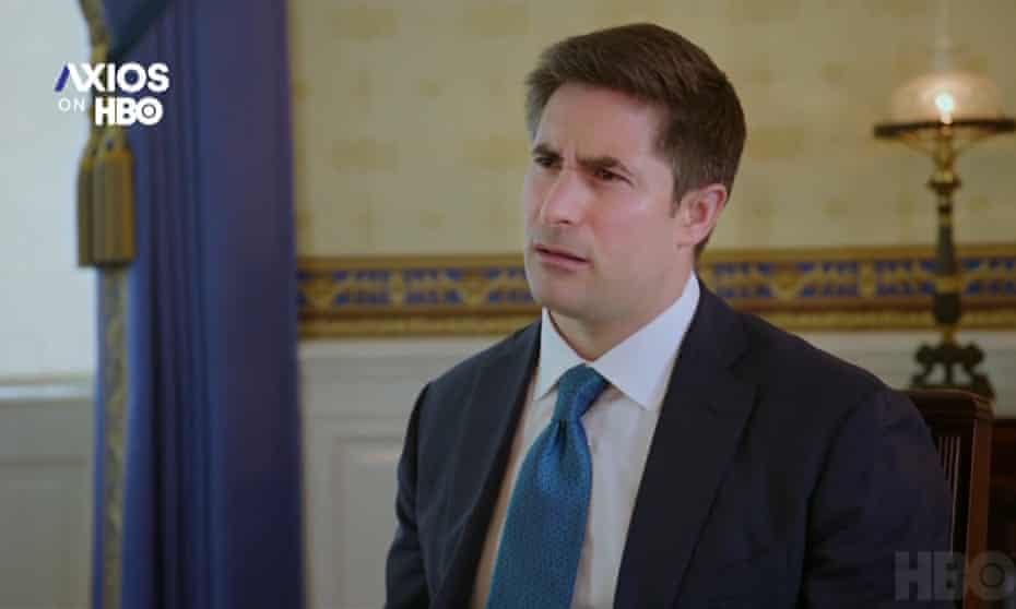 Jonathan Swan, the national political correspondent at the Axios, won the 2021 Emmy award for outstanding edited interview for his August 2020 interview with Donald Trump.