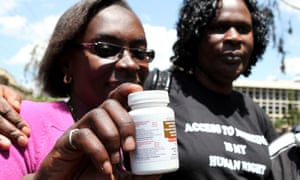 People living with HIV/Aids celebrate a landmark 2012 Kenyan high court ruling facilitating continued access to drugs