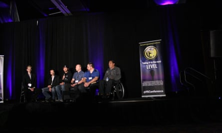 'It's very cathartic being around other flat Earthers' at the Flat Earth international conference in Denver, Colorado, November 2018.