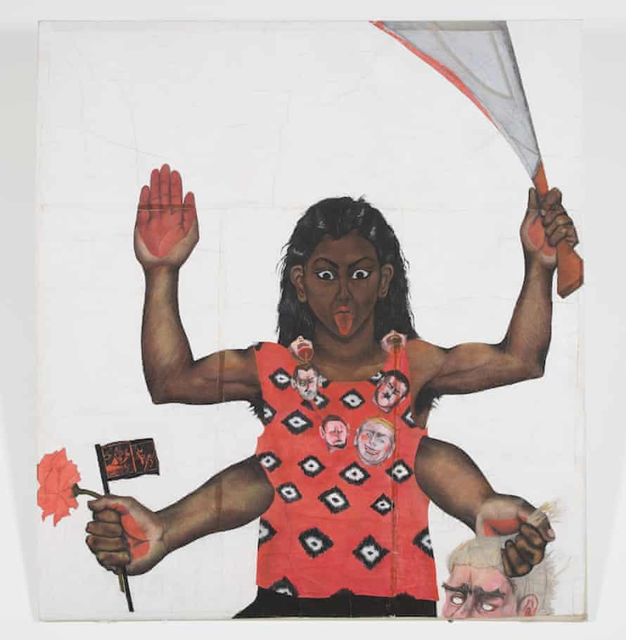 Sutapa Biswas's Housewives with Steak-knives, 1985.