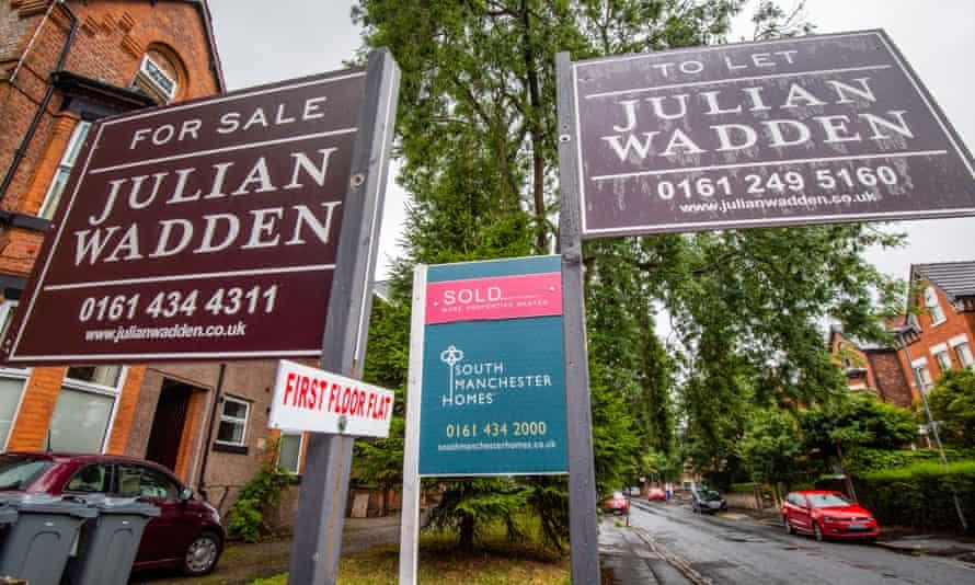 Estate agent placards