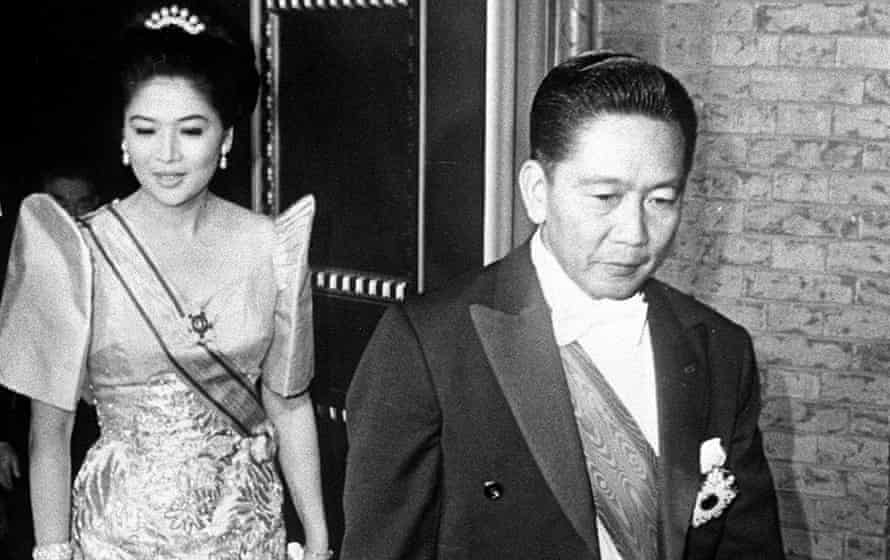 Ferdinand Marcos and Imelda Marcos in 1970.