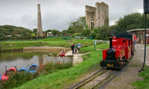 The Lappa Valley narrow gauge railway attraction in Cornwall, incorporating an old tin mine and boating lake.