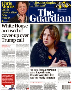 Guardian front page 27092019