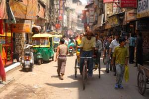 Paharganj district in Old Delhi.