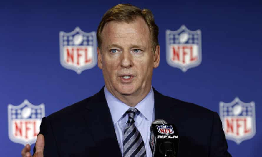 Roger Goodell said: 'When you look at ratings, you have to look a little deeper than that.'