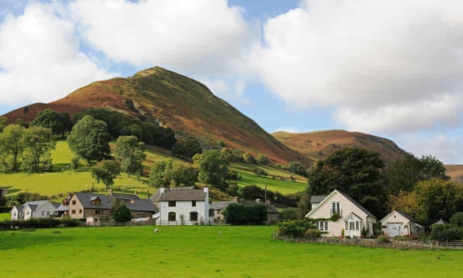 Berwyn Mountains Llangynog village, Powys