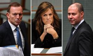Tony Abbott, Peta Credlin and Josh Frydenberg