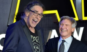 Peter Mayhew with Harrison Ford in 2015.