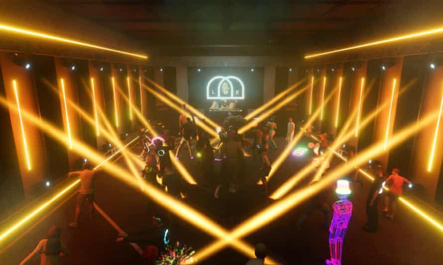 Tobacco Dock Virtual's Opening party in London, on 2 Apr 2021