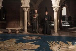 Mark Gatiss as Tycho Nestoris and Lena Headey as Cersei Lannister.