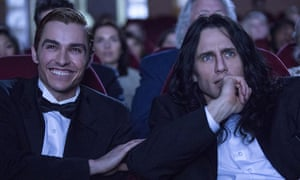 'As the film gets into the meat of the story, the production of The Room itself, it becomes giddy, often hysterically funny entertainment' ... Dave Franco and James Franco.