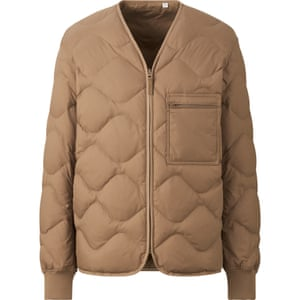 Uniqlo, the go-to for affordable quilted outerwear is introducing recycled down jackets under the label RE: Uniqlo, in November. It uses down from existing jackets collected through a recycling scheme in Japan. A similar initiative is now under way in the UK to recycle unwanted items. £69.90, uniqlo.com