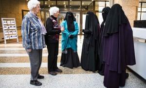 Women wearing the niqab in The Hague