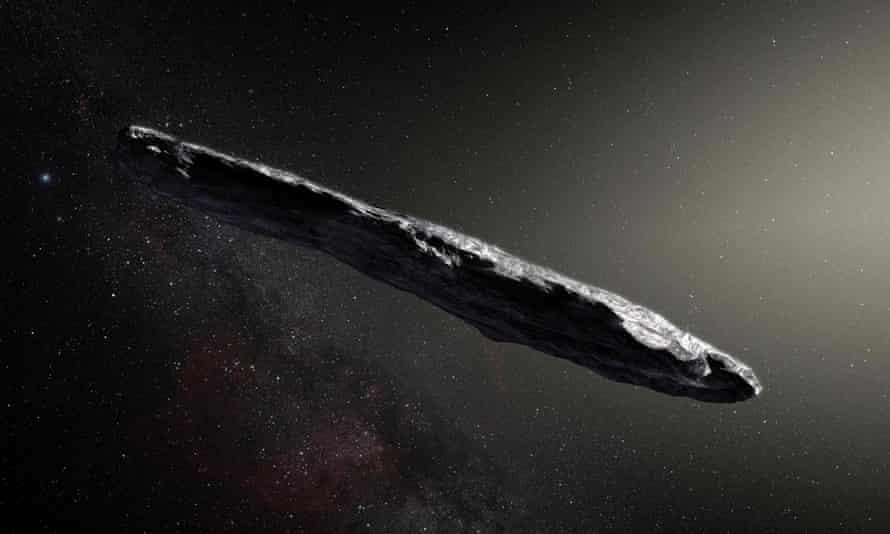 Se publicó una ilustración de Oumuamua después de su descubrimiento en 2017.