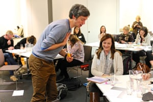 Simon Mole provides feedback during his workshop on creating high quality poetry quickly and easily at the Guardian Education Centre Reading for pleasure conference 9 November 2018