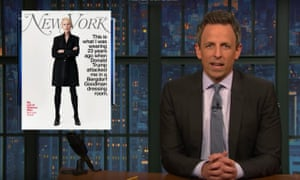 Seth Meyers: 'Hey, no one believes you when you deny this stuff because you already admitted to it. Remember, you were on a bus with Billy Bush, bragging about assaulting women like some sort of Port Authority pervert.'