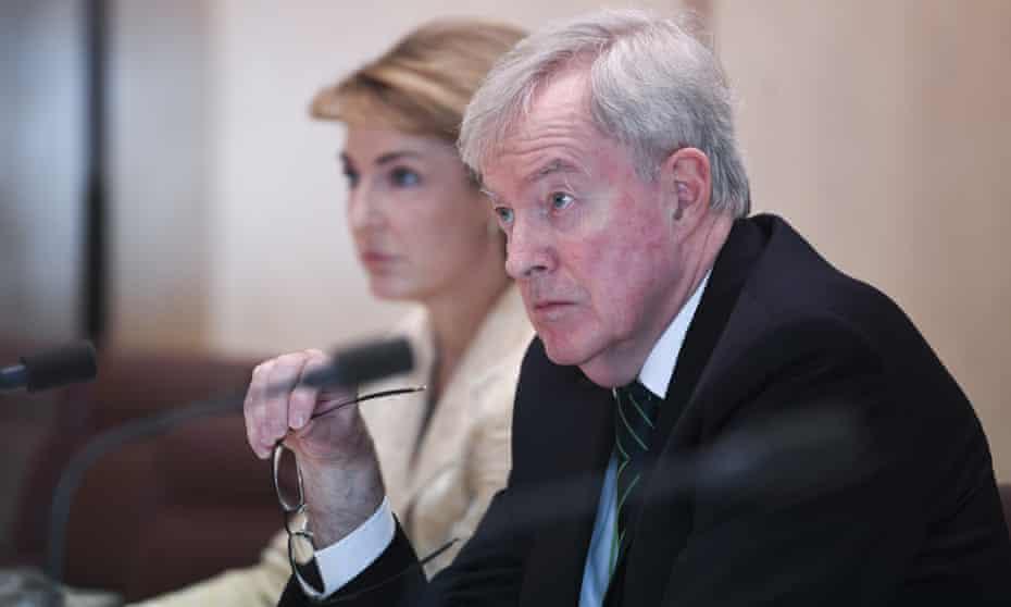 Outgoing Australian public service commissioner John Lloyd in Senate estimates in May