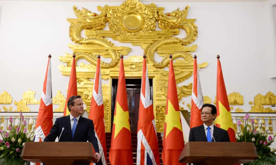 A press conference in Hanoi