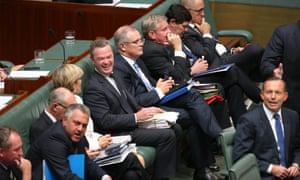 Education minister Christopher Pyne during question time in the House of Representatives this afternoon, Monday 23rd February 2015.
