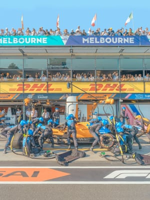 'You might be there to get the shot – but they are there to win' … McLaren Formula One at the Melbourne Grand Prix.