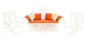 A garden furniture set