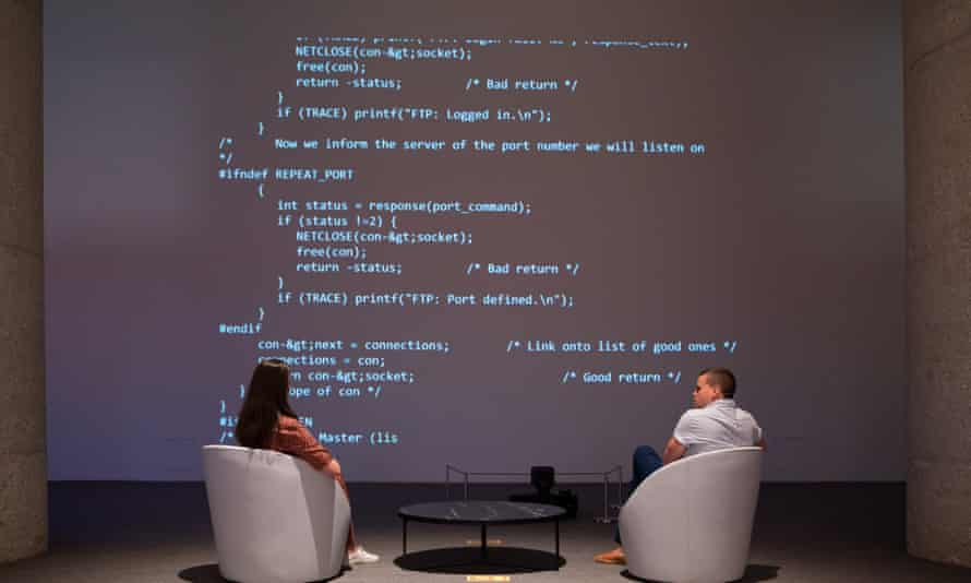 Sir Tim Berners-Lee auctions the source code for the world wide web as an NFT at Sotheby's.