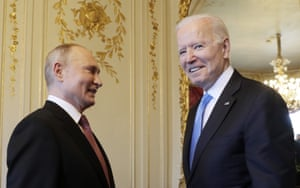 Biden called it a discussion between 'two great powers' and said it was 'always better to meet face to face'