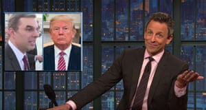 Seth Meyers on Trump's podium sign: 'I have a feeling the staff at DC Kinkos voted for Hillary.'