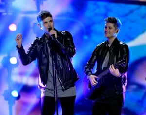 UK's Joe and Jake UK's Joe and Jake perform the song 'You're Not Alone'