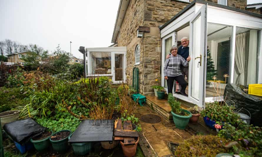 Sheila and Philip Herbert at their back door leading to the garden