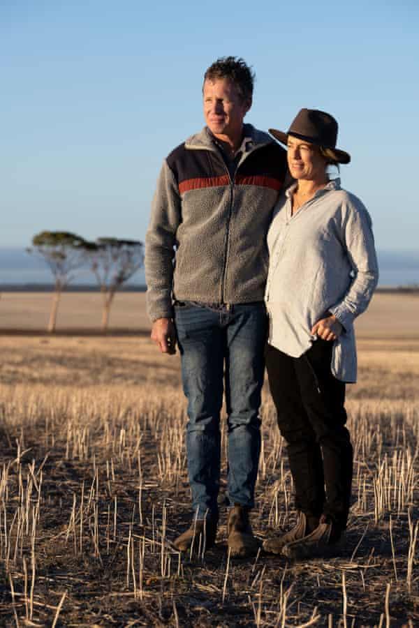 Simon Wallwork and Cindy Stevens on their farm