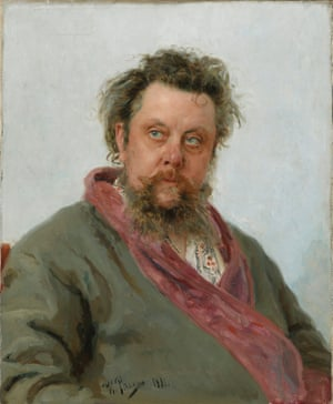 Modest Mussorgsky, 1839-91. Boris Godunov was his only completed opera. It tells a tumultuous story of Russia in crisis, tsars, pretenders and deadly plots(From the exhibition Russia and the Arts: The Age Of Tolstoy and Tchaikovsky, National Portrait Gallery, London )