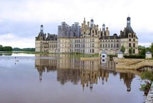 Loire, France The flooded Château de Chambord
