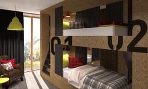 Bedroom in Moontain Hostel, Oz-en-Oisans, France