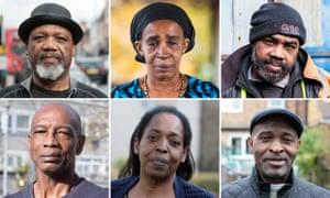Composite of Commonwealth citizens. Left to right top row: Elwaldo Romeo, Paulette Wilson, Renford McIntyre. Bottom row: Michael Braithwaite, Sarah O'Connor and Antony Bryan.