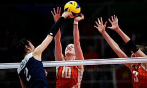 The women's volleyball world championship begins in Japan.
